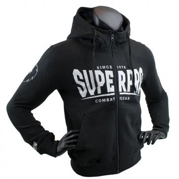 Super Pro Hoody mit Zipper S.P. Logo black/white