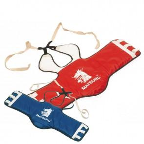 Matsuru Taekwondo Brustschutz Blau/Rot umkehrbar