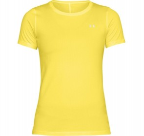 Under Armour Damestop HeatGear Armour Geel (Kleding)