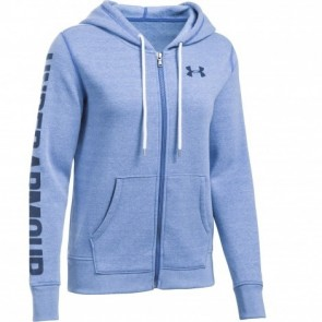 Under Armour Damen Hoodie Threadborne Fleece Blue