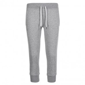 Under Armour Damesbroek Slim Leg Fleece Crop 3/4 Grijs