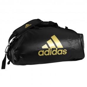 adidas Trainings Sporttasche Combat 2 in 1 Schwarz / Gold
