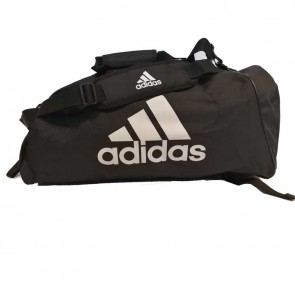 adidas Training Sporttas Polyester 2 in 1 Zwart/Wit