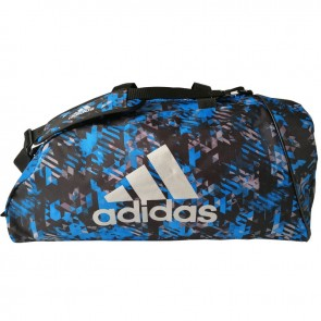 adidas Super Sporttas Camo Blauw Medium