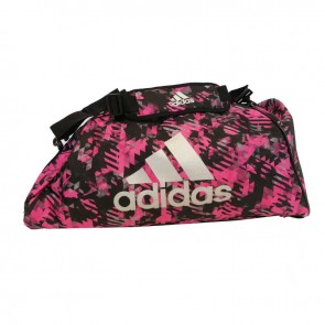 adidas Combat Sporttasche Polyester 2 in 1 Pink Camo/Silber