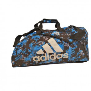 adidas Combat Sporttasche Polyester 2 in 1 Blau Camo/Silber