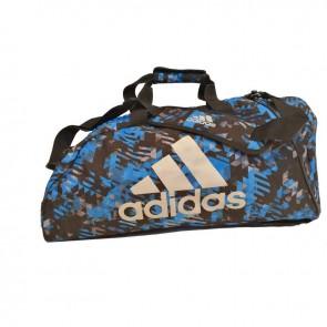 adidas Combat Sporttas Polyester 2 in 1 Blauw Camo/Zilver Large