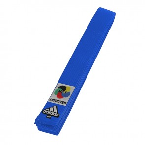 adidas Karateband Elite WKF Logo 45mm Blauw