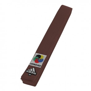 adidas Karateband Elite WKF Logo 45mm Braun