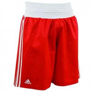 adidas Amateur Boxen leichte Short Rot/Weiß