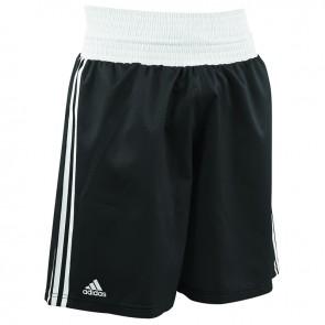 adidas Amateur Boxen leichte Short Schwarz/Weiß