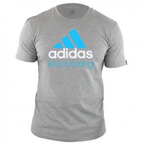 adidas Community T-Shirt Grau/Blau Kick Boxing