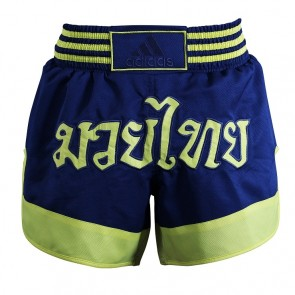 adidas Thai- und Kickbox-Shorts Micro Diamond Gelb / Blau