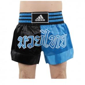 adidas ThaiBoxshort halb/halb Schwarz/Blau