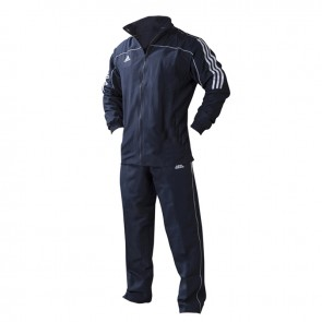 adidas Team Track Trainingsjacke  Blau/Weiß