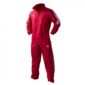 adidas Team Track Trainingshosen Rot/Weiß
