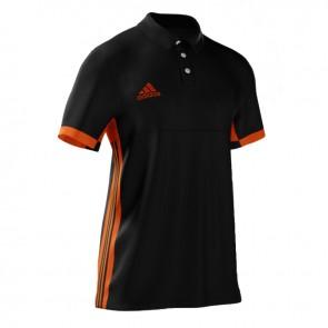 adidas T16 MiTeam Polo Männer Schwarz/Orange