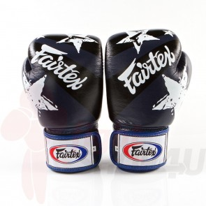 Fairtex (kick)bokshandschoenen Nation Print Blauw 16oz