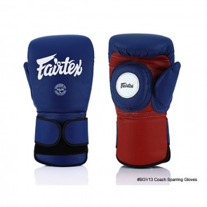 Fairtex Coach Handschuhe Sparring Blue / Red