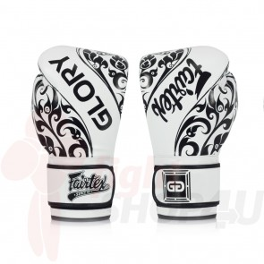 Fairtex (kick)bokshandschoenen Glory Limited Edition Wit BGV2 16oz