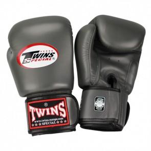 Twins (kick)bokshandschoenen Velcro Grijs
