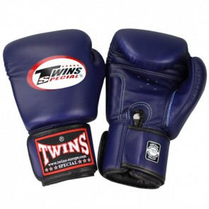 Twins (Kick)Boxhandschuhe Velcro Blau