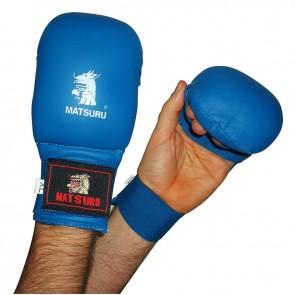 Matsuru Karate Handschuhe Wettbewerbmodel ohne Daumen Blau