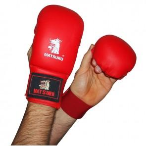 Matsuru Karate Handschuhe Wettbewerbmodel ohne Daumen Rot
