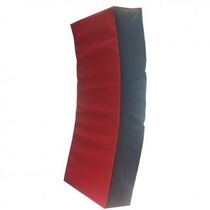 Gebogene Pad 75x35x15 cm Schwarz/Rot