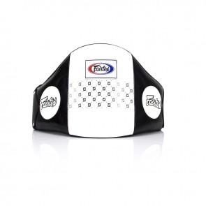 Fairtex Bellyprotector Leder Zwart/Wit (Trapstoot)