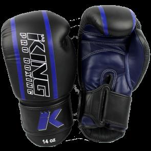 King (kick)bokshandschoenen Elite 2 Zwart/Blauw (Handschoenen)