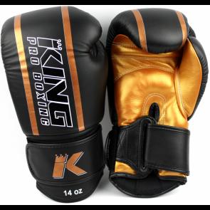 King (kick)bokshandschoenen Elite 3 Zwart/Goud
