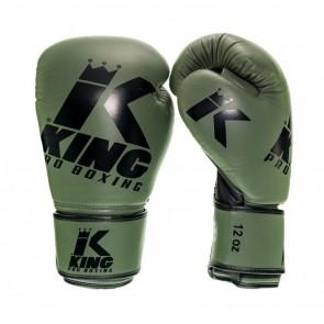 King (Kick) Boxhandschuhe Platinum 3 Grün / Schwarz