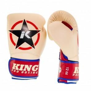 King (Kick) Boxhandschuhe Vintage 1 Beige