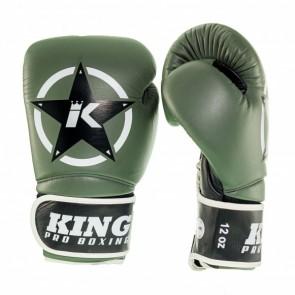 King (Kick) Boxhandschuhe Vintage 1 Grün / Schwarz