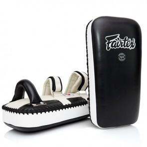 Fairtex Thaipads Leder Zwart/Wit (Trapstoot)