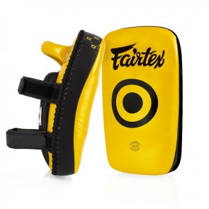 Fairtex Gebogen Thaipads Microfiber Zwart/Goud
