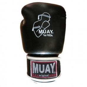 Muay (Kick) Boxhandschuhe Junior Schwarz