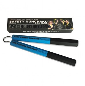 Safety Nunchaku Traditional (Octagonaal) Blauw Senior (Overigeboksartikelen)