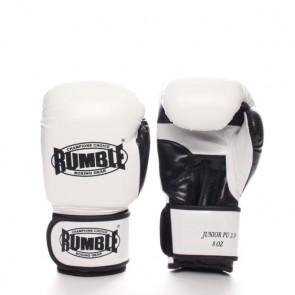Rumble (Kick)Boxhandschuh PU Junior Weiß/Schwarz 2.0