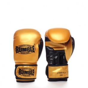Rumble (Kick)Boxhandschuh PU Junior Gold/Schwarz 2.0