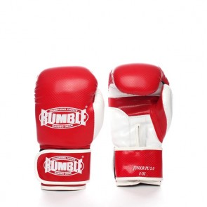 Rumble (Kick)Boxhandschuh PU Junior Rot/Weiß 2.0