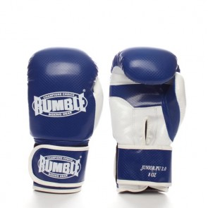 Rumble (Kick)Boxhandschuh PU Junior Blau/Weiß 2.0