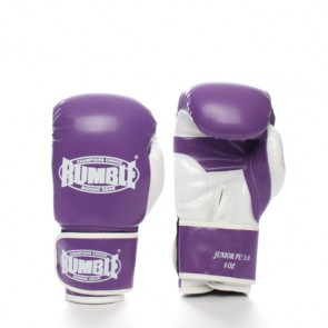 Rumble (Kick)Boxhandschuh PU Junior Lila/Weiß 2.0