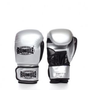 Rumble (Kick)Boxhandschuh PU Junior Silber/Schwarz 2.0