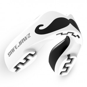 Safejawz Mundschutz Extro-Series Moustache White/Black Junior