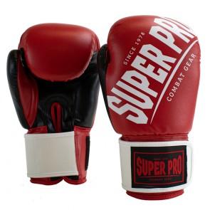 Super Pro Combat Gear (kick)bokshandschoenen Rebel Rood/Zwart/Wit Junior
