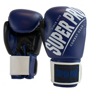 Super Pro Combat Gear (kick)bokshandschoenen Rebel Blauw/Zwart/Wit Junior