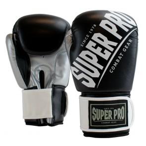 Super Pro Combat Gear (kick)bokshandschoenen Rebel Zwart/Grijs/Wit Junior