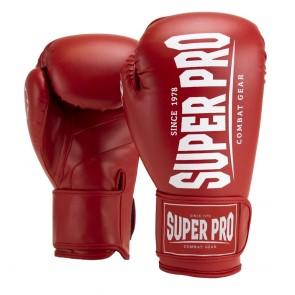 Super Pro Combat Gear Champ (kick)bokshandschoenen Rood/Wit 8oz